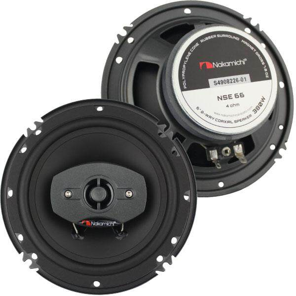 "NAKAMICHI NSE 66 6.5"" 2-Way 25W RMS 380W Car Coaxial Speaker (Pair)"