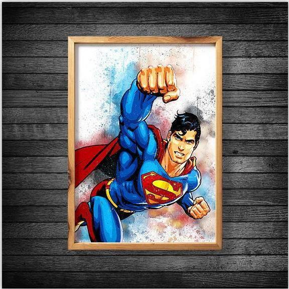 35*45CM Diamond Mosaic 5D DIY Diamond Painting Superman Cross Stitch Full Diamond Round Embroidery Decor Painting