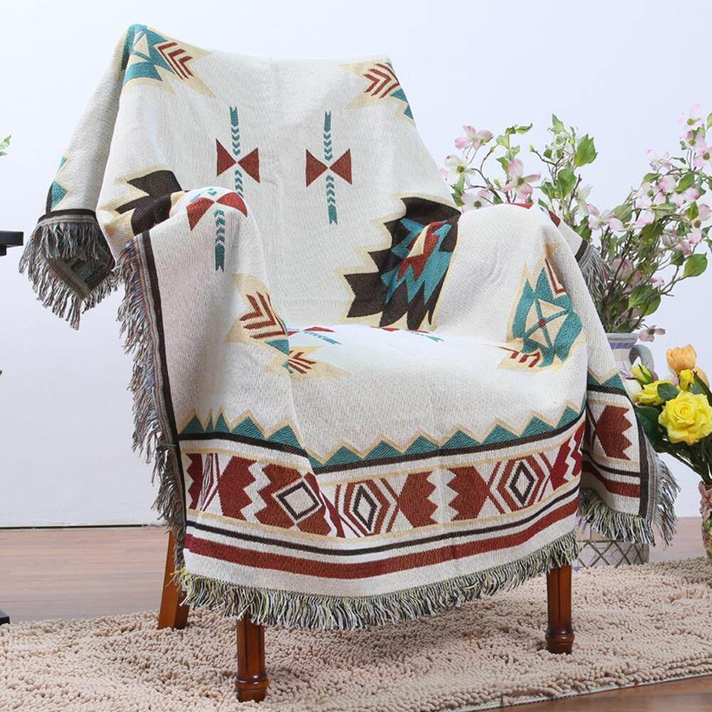 Ưu Đãi Khuyến Mại Khi Mua Star MallGeometry Throw Blanket Sofa Cobertor Hanging Tapestry For Sofa Bed Plane Travel