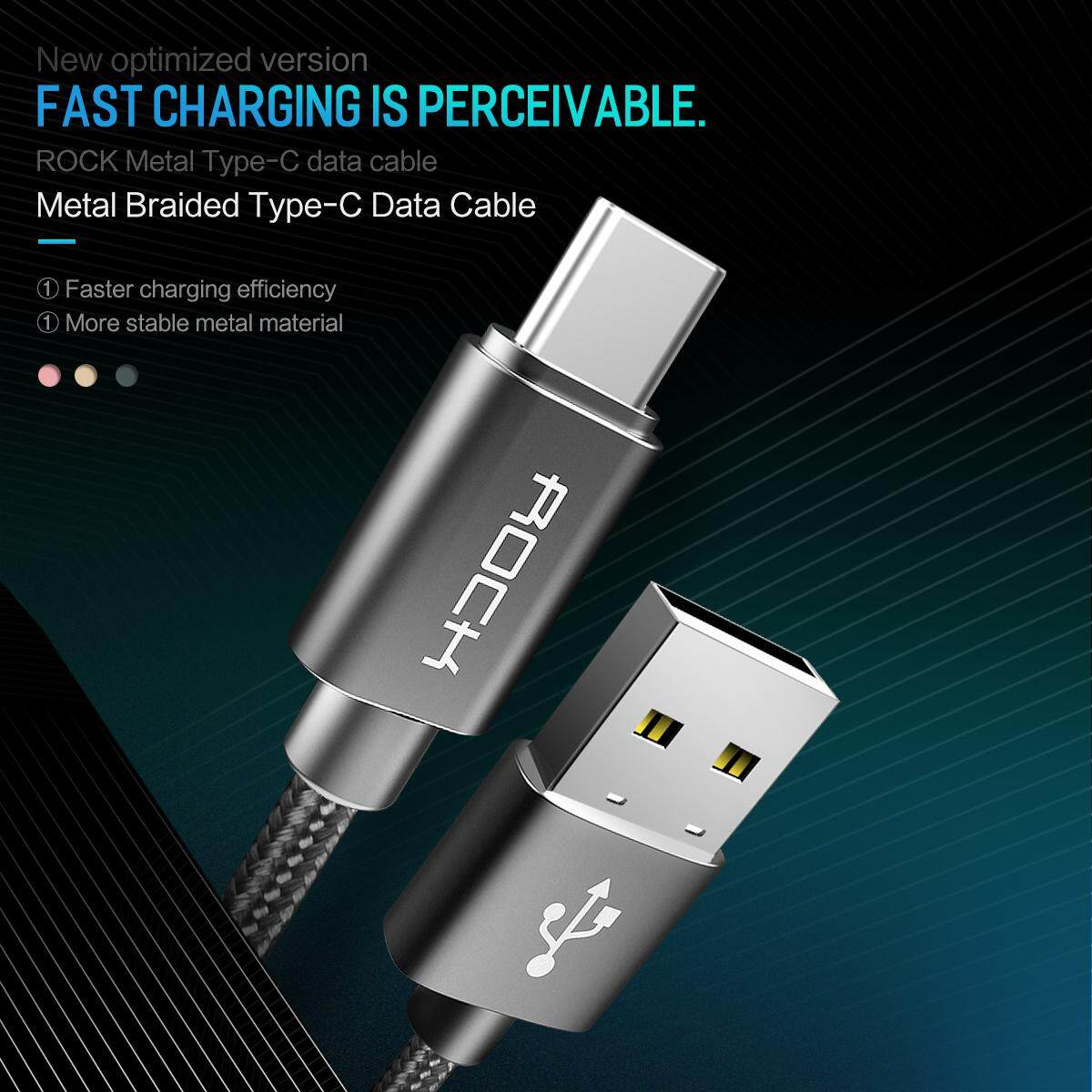 Features Rock Usb Type C Cable Metal Fast Charging Kabel Data Xiaomi Detail Gambar For Redmi Samsung Galaxy S9 Oneplus Nylon Braid Charge Sync Terbaru