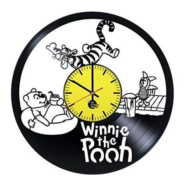 Winnie Pooh Madu Piringan Hitam Jam Dinding-Dapatkan Bayi Yang Unik, Dinding Kamar Tidur Dekorasi Ide Hadiah untuk Saudara adik Anak-anak-Film Unik Desain Seni-Tinggalkan Kami Umpan Balik dan Memenangkan Jam Biasa./Dari Amerika Serikat