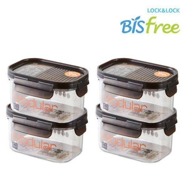 Bisfree Modular Rectangular 450ml LBF402 4P / Multi-Purpose Food Storage Box