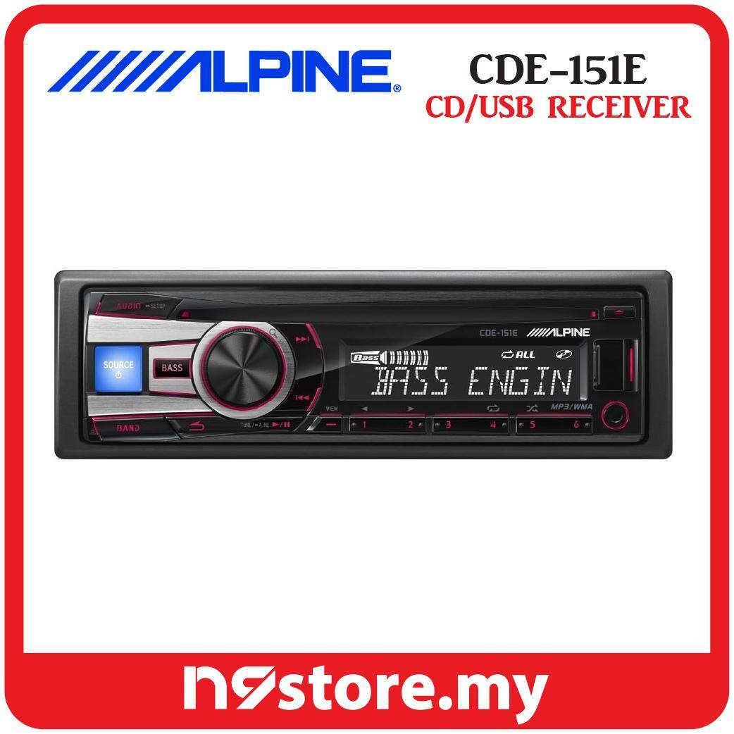 Alpine CDE-151E Single Din CD USB AUX Ipod Controller Car Stereo Receiver