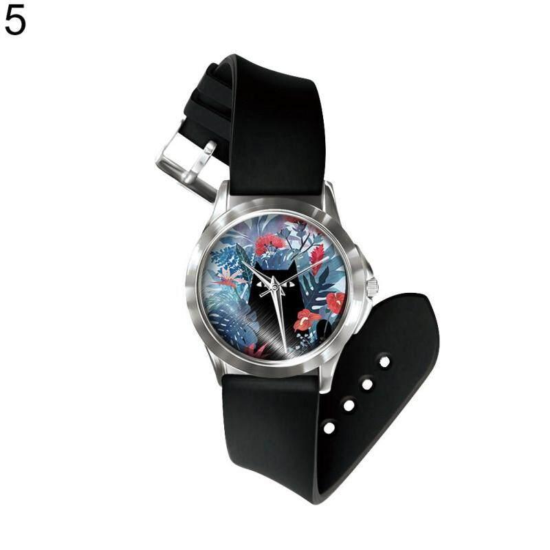 Sanwood® Fantastic Cartoon Cat Monster Dial Print Unisex Analog Quartz Wrist Watch Gift (5#) Malaysia