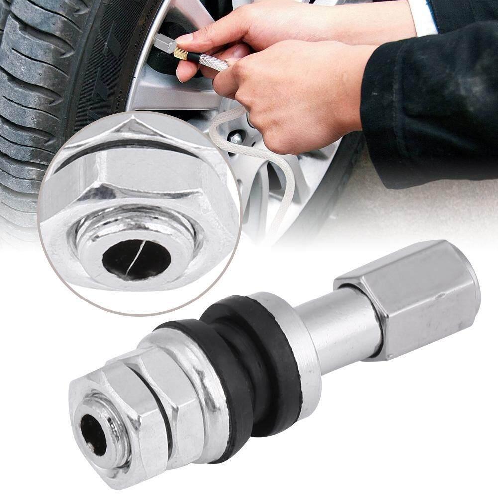 10 Pcs TR43E Mobil Logam Truk Ban Tanpa Tabung Sepeda Motor Ban Batang Katup dengan Tutup Debu