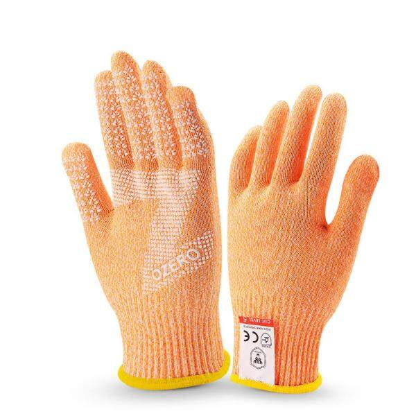 1 Pair Cut-Resistant Protective Wearable Anti-glass Scratches Wire Working Safety Anti-Cutting Gloves # S - Orange s