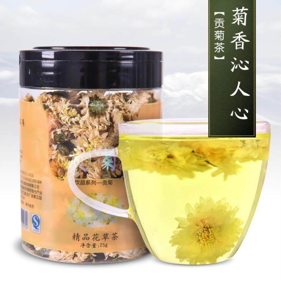 Anhui Krisan Putih Yang Dipilih Bunga Krisan Buah Camellia Tea Tea Teh Kesehatan Oem-25g