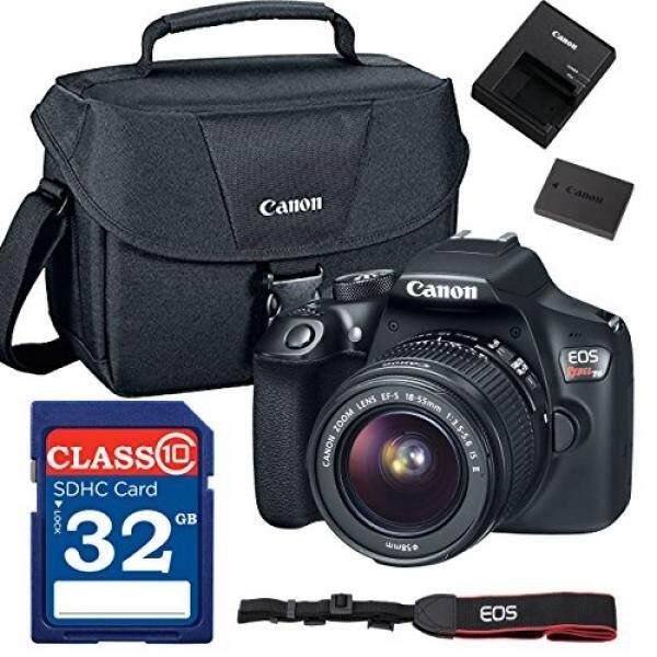 Canon EOS Rebel T6 Kamera SLR Digital dengan EF-S 18-55 Mm F/3.5-5.6 IS II + ES100 case + 32 GB Kelas 10 Kartu SD-Versi Internasional
