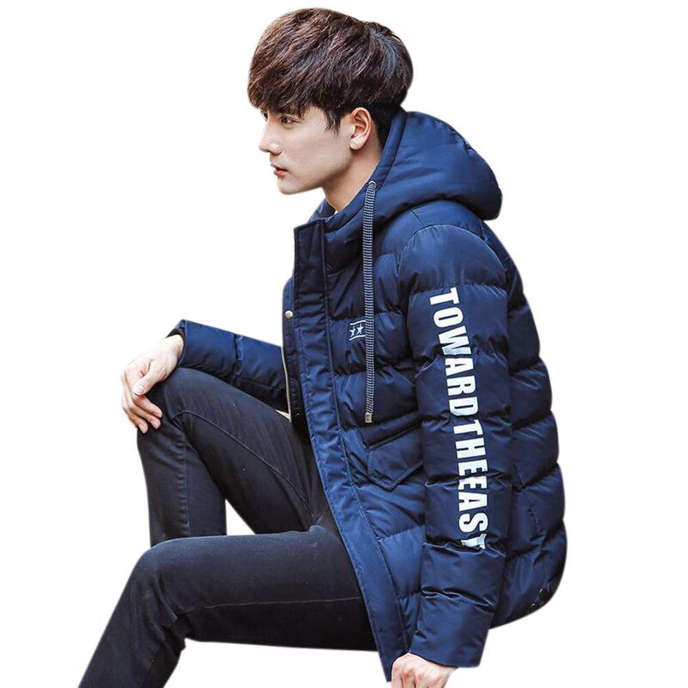 Big Sale Men Fashion Winter Warm Hooded Thicken Padded Jacket Zipper Slim Outwear Coat