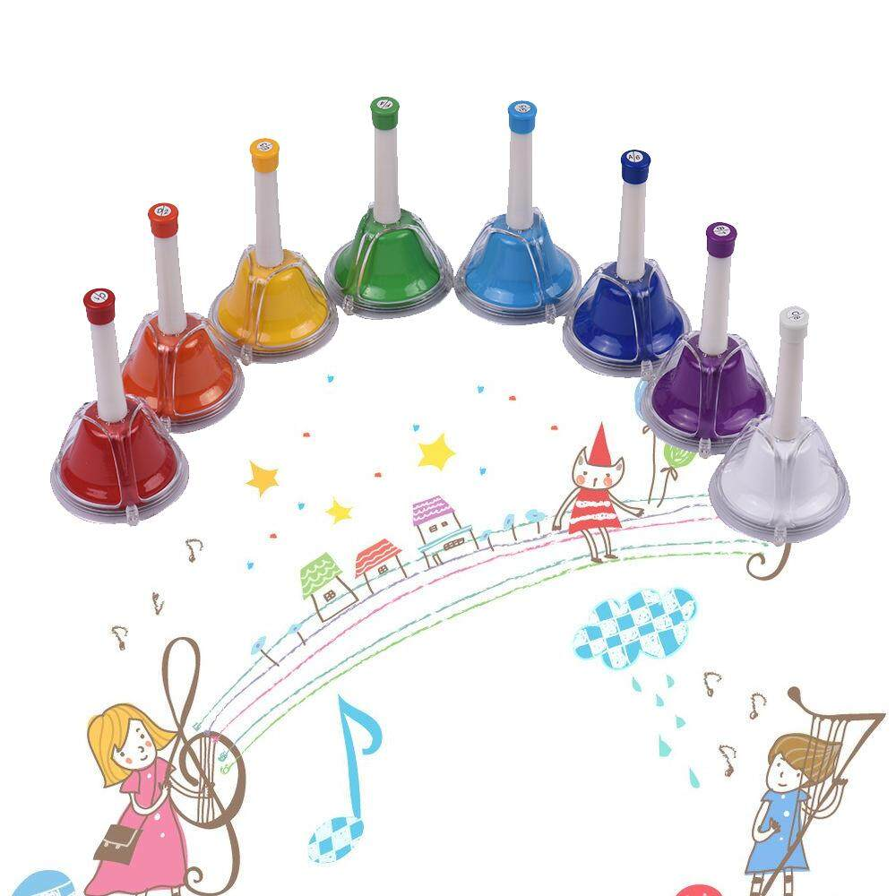 8 Note Diatonic Metal Bell Colorful Handbell Hand Percussion Bells Kit Musical Toy For Kids Children For Musical Learning Teaching - Intl By Tomtop.