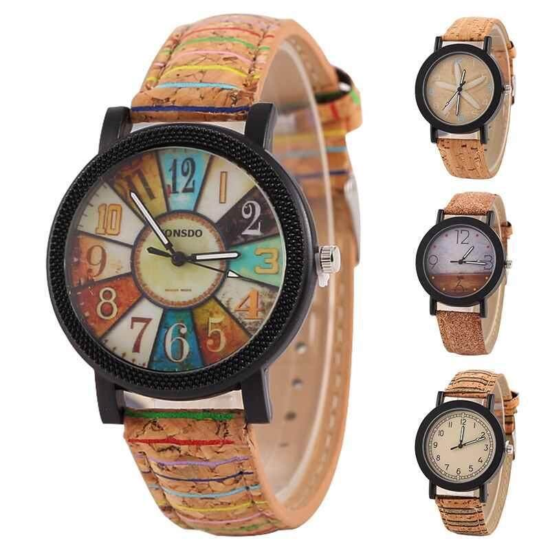Nơi bán Chux Men Womens Dress Quartz Watch Leather Strap Fashion Retro Vintage Casual Unisex Watch Gift Three Hands