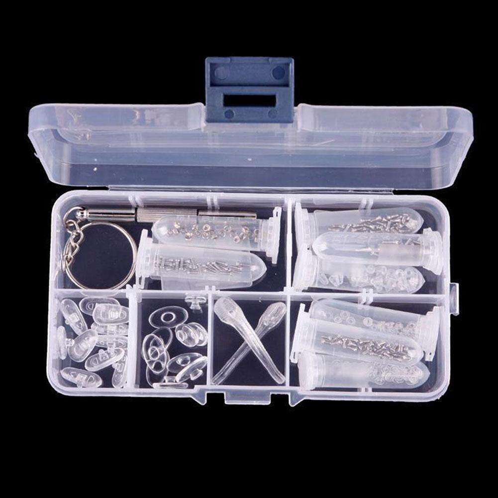 New Eye Glasses Sunglasses Repair Tool Screw Nose Pad Optical Assortment Kit Set By Liveon367.