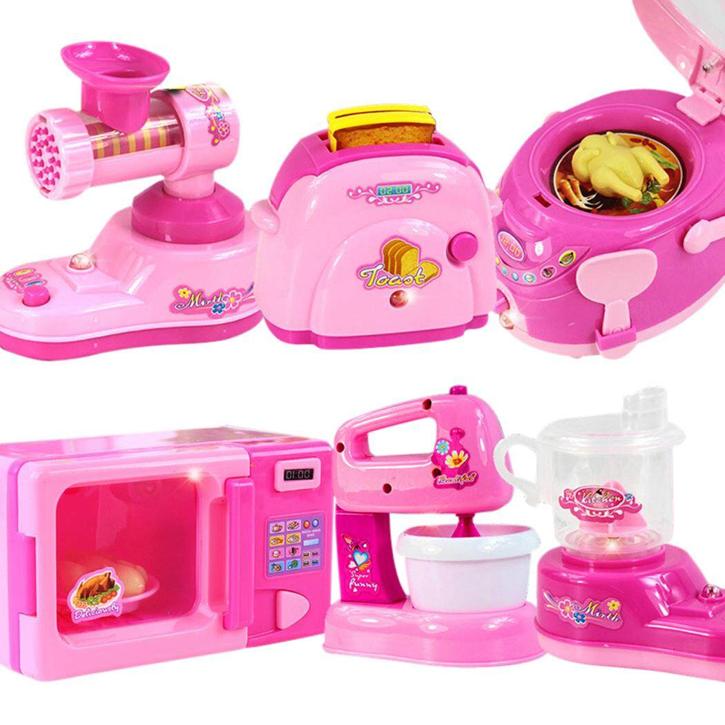Kitchen appliance toy set mini battery powered kitchen toy set kitchen cooking toy for kids