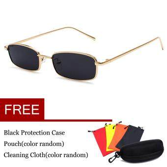 Baru Unisex Sunglasses Vintage Glasses Square Shades Small