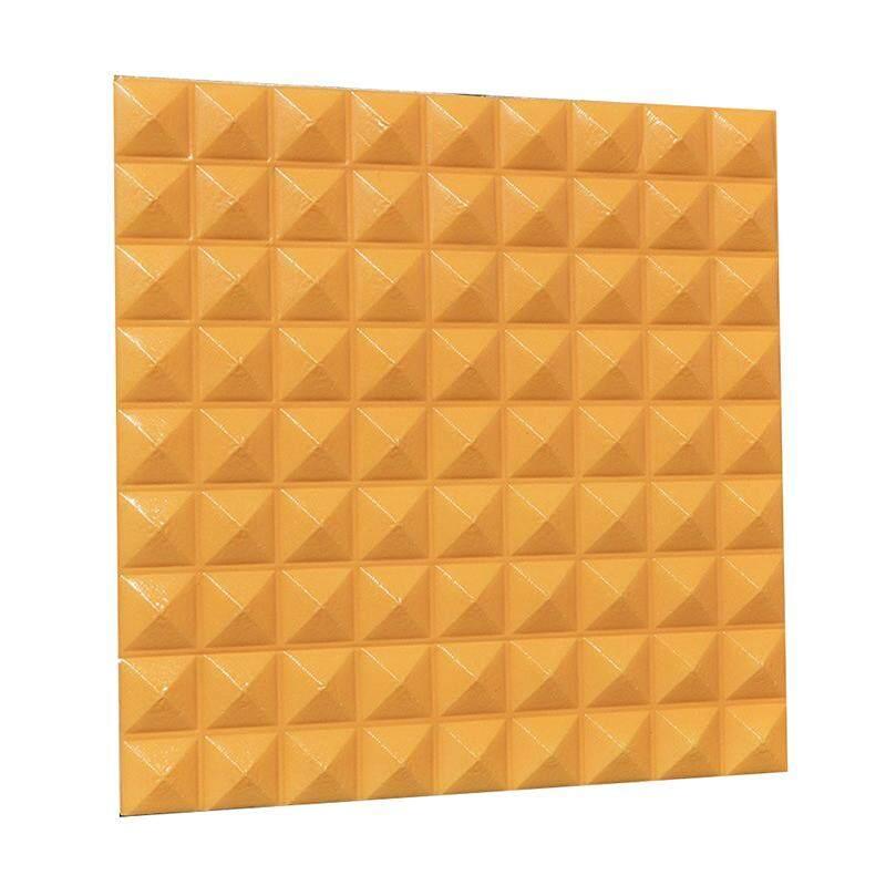 3D Three-dimensional Wall Panels DIY Self-adhesive Waterproof Creative Wallpaper Home Clothing Shop Furniture Store Mural Art Decoration yellow