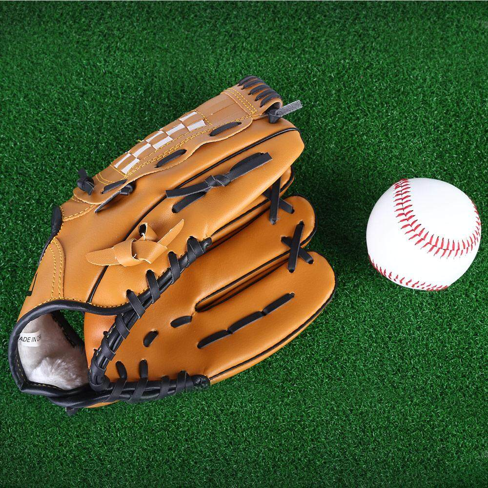 Outdoor Sports Brown Practice Left Hand Baseball Glove Softball Equipment (11.5) By Transformers Mall.