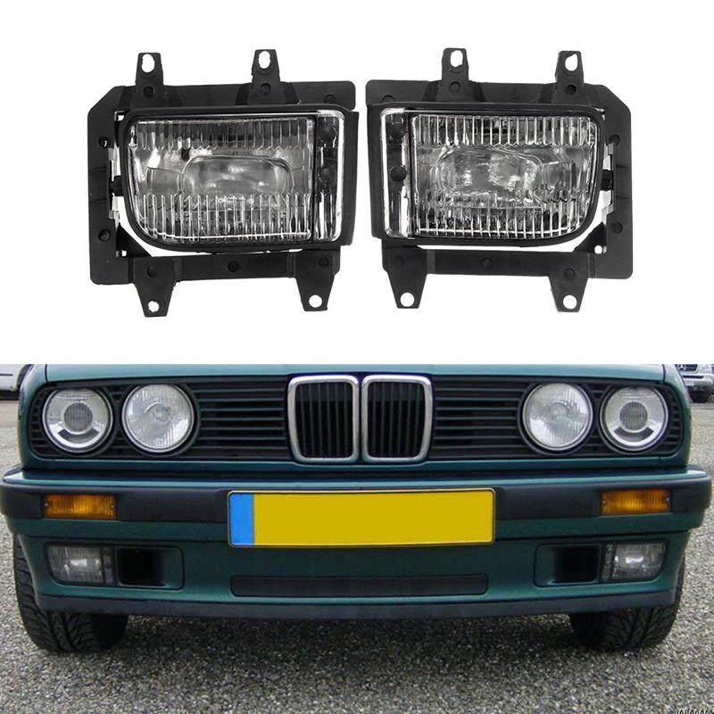 Ishowmall 2 Pcs Set Pasang Bumper Depan Jelas Kabut Lampu untuk BMW E30 318i 320 325i 1982to1994
