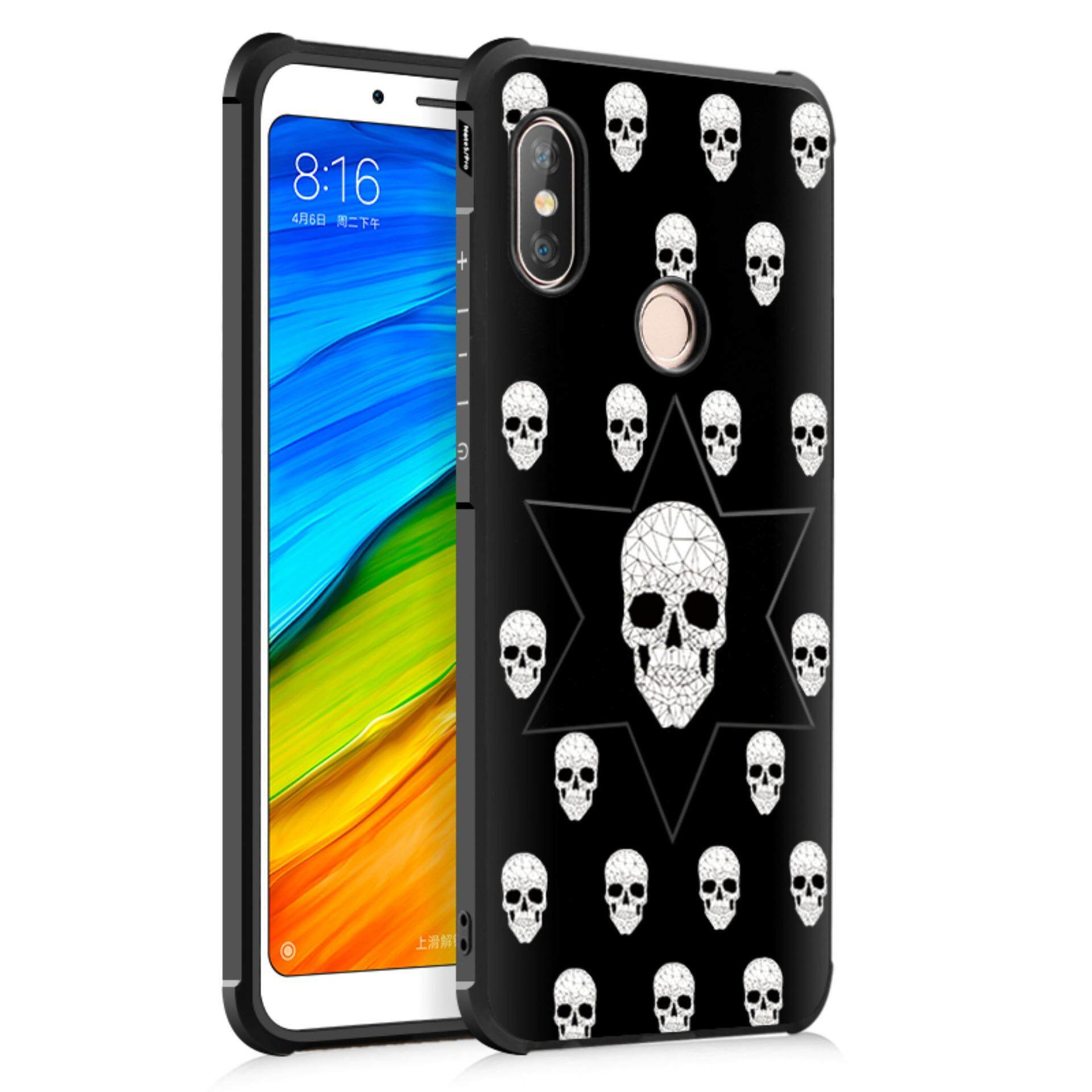 Silicon Debossed Printing Cover Case for Xiaomi Redmi Note 5 Pro - intl