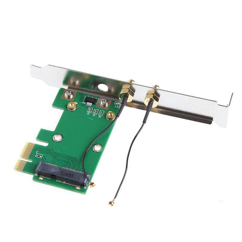 Ishowmall Jaringan Wifi Nirkabel Kartu Mini PCI-E untuk Pci-E 1X Desktop Adaptor