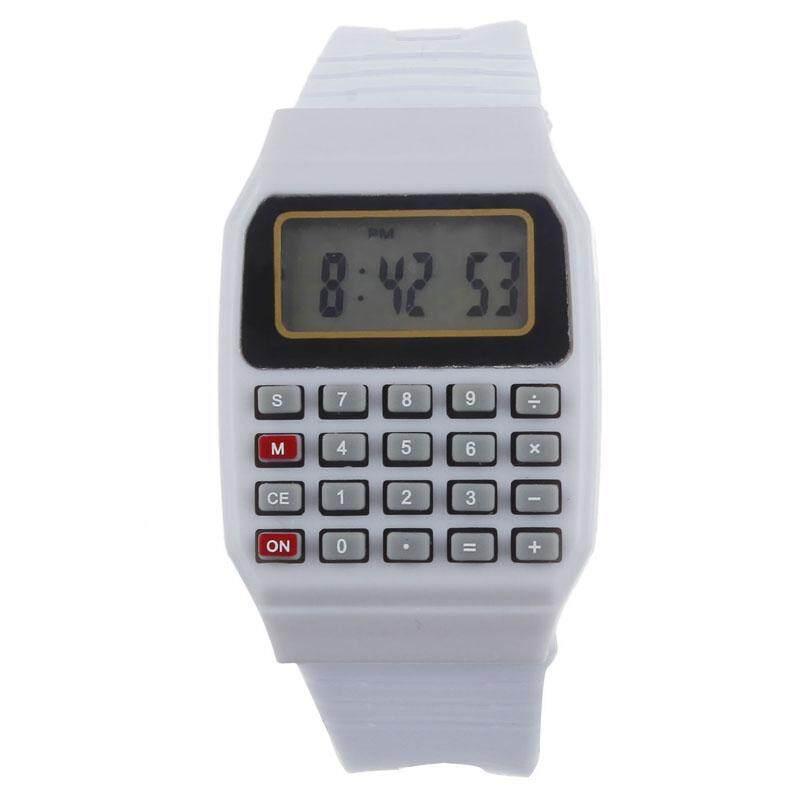 VRE Whatch Toko Unsex Silikon Multi-Tujuan Tanggal Elektronik Jam Tangan Jam Tangan Kalkulator And