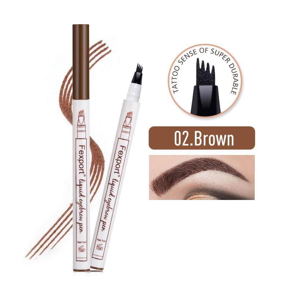 Eyebrow Tatto Pen, 4 Tip Fine Sketch Enhancer Eyebrow Pencil Waterproof Long-lasting Liquid Eyebrow Pen 3D Brow Gel and Tint Dye Cream Eyebrow Pen Philippines