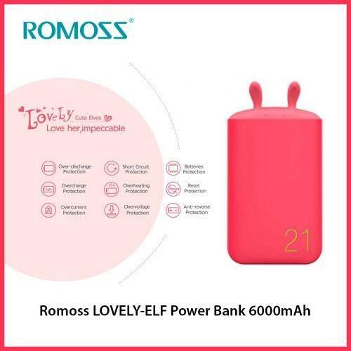 Romoss LOVELY-ELF Power Bank 6000mAh (Pink)