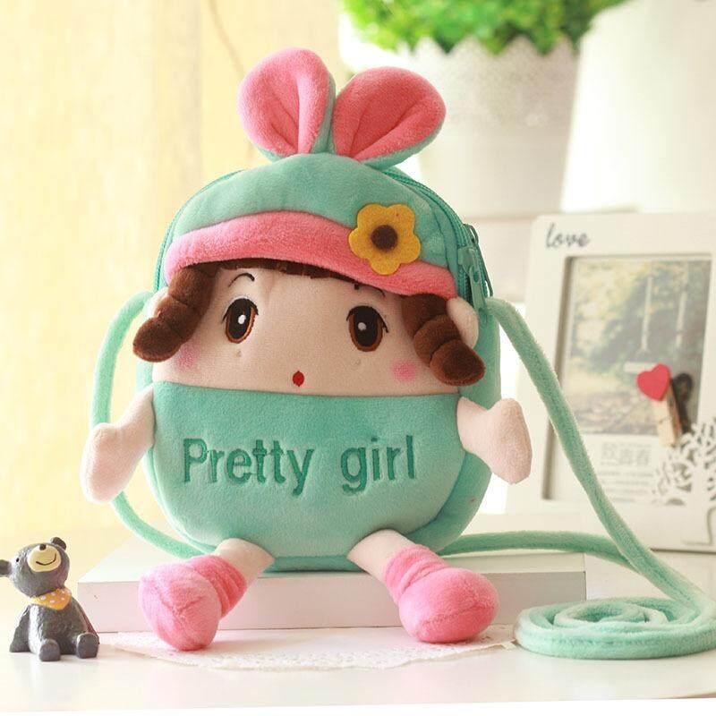 Petpet tas selempang wanita Imut hewan kecil benang wool Layar Besar tas ponsel Siswi Mini tas