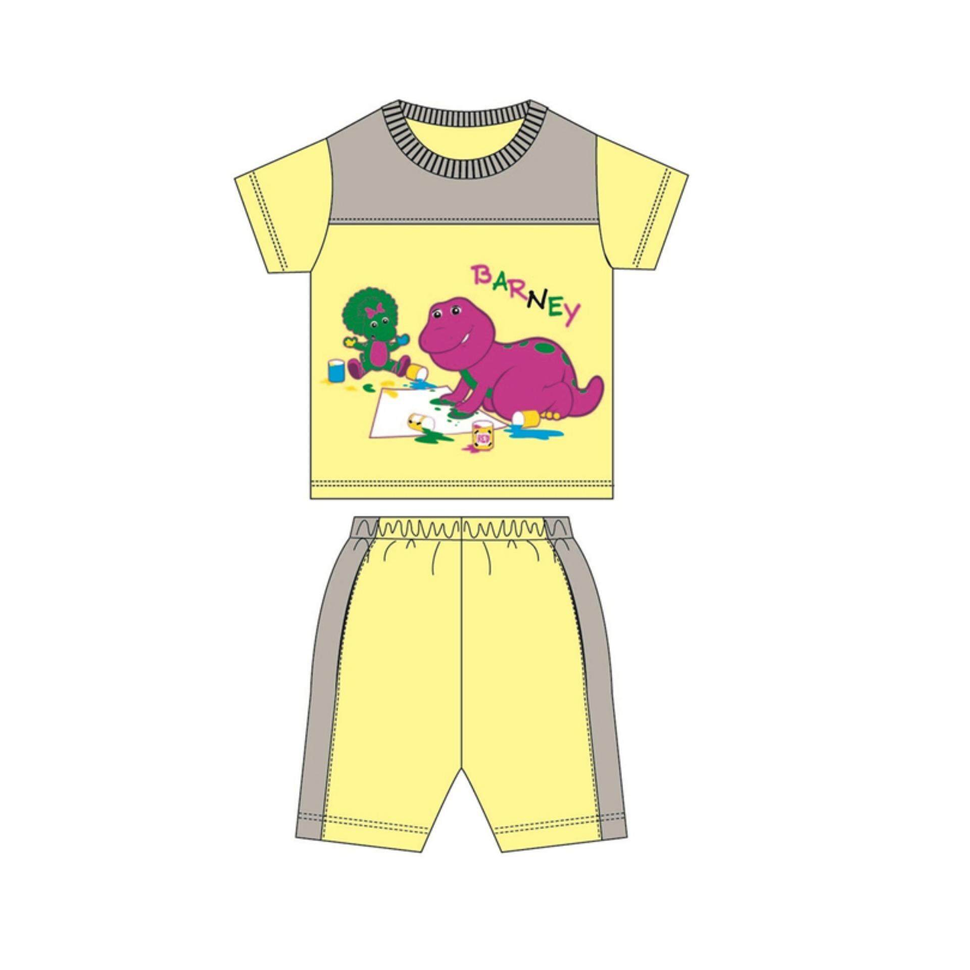 Barney Suits 100% Cotton 1yrs to 3yrs - Yellow And Melange Colour