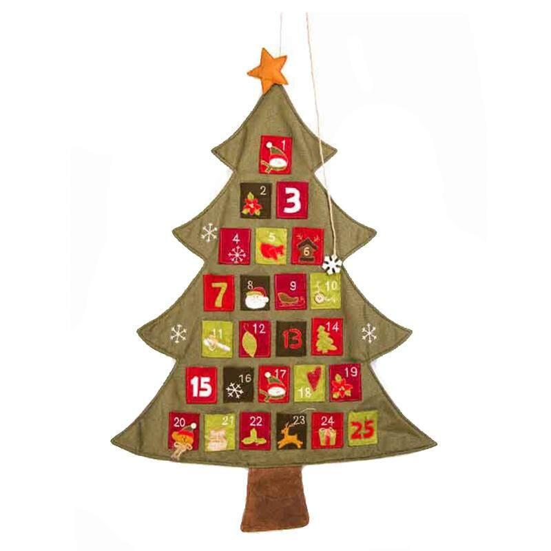 Mua Christmas tree Advent Calendar Countdown Decor Bags linen - intl