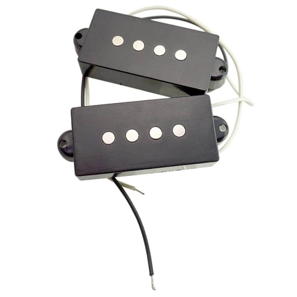 Detail Gambar Miracle Shining Electric Bass Open Humbucker Pickup Bridge Neck for 4-String PB Bass Black - intl Terbaru