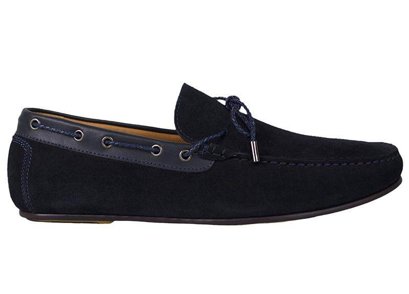 Tomaz C318 Suede Leather Braided Loafers (Black)