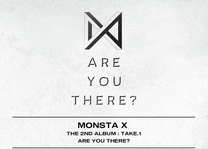 MONSTA X - 2ND ALBUM TAKE.1 < ARE YOU THERE? > ( VERSION RANDOM / poster Folded)