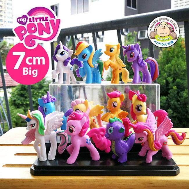 My Little Pony Large Figures Toy Doll Cake Topper (7cm) (12pcs Set)