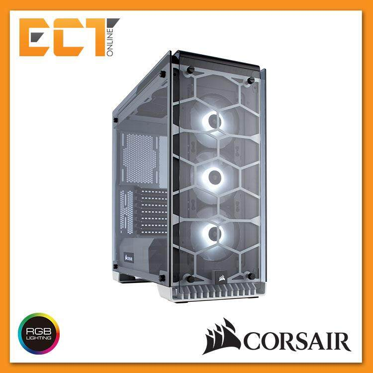 Corsair Crystal Series 570X RGB ATX Mid-Tower Case - White/ Black Malaysia