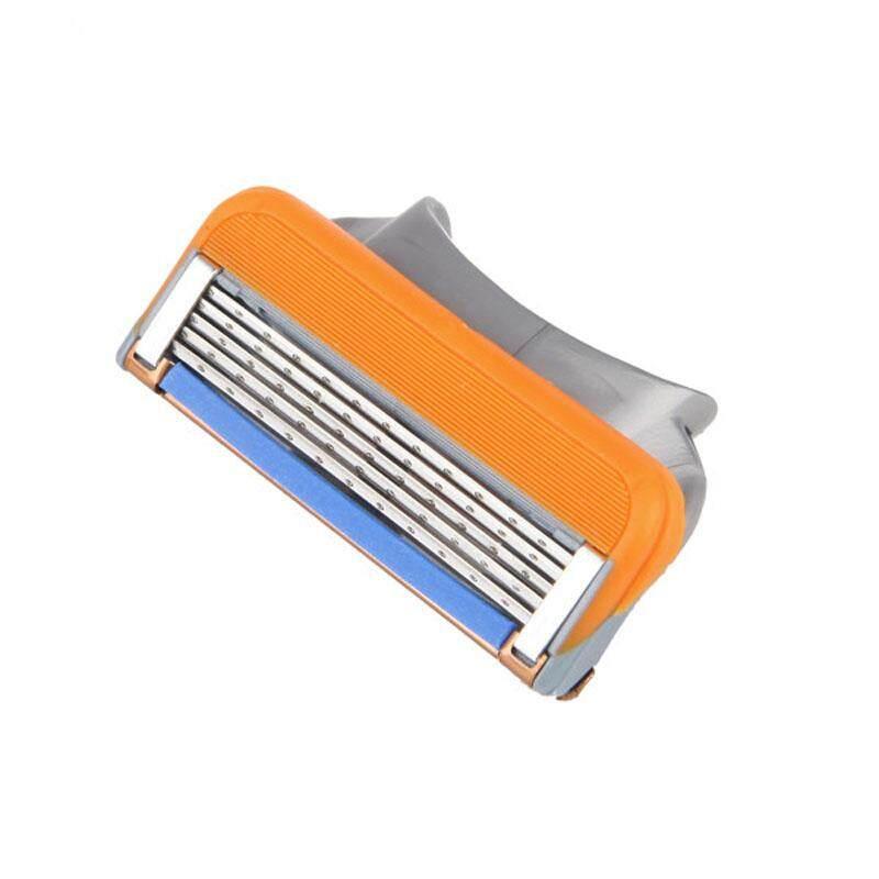 Docesty Pria Pisau Cukur Isi Ulang Bilah Kartrid 5 Layer untuk Gillette Fusion