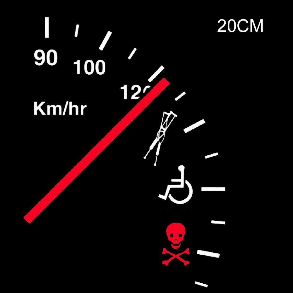 Excess Speed Safety Warning Rear Windshield Car Sticker By Storeshop.