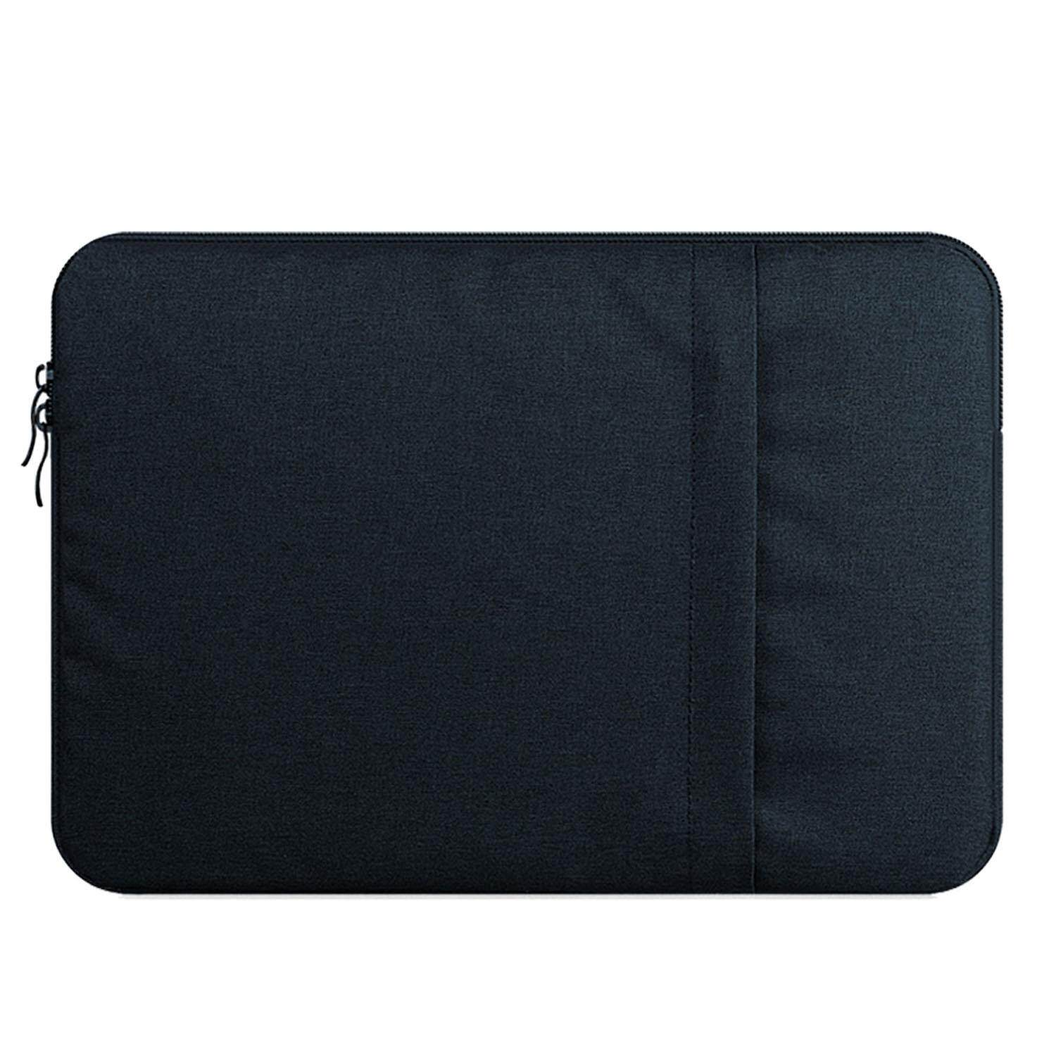 Portable Notebook Laptop Sleeve Handbag Protective Case Bag with Side Pocket for MacBook Air Lenovo Dell Acer 11 Inch
