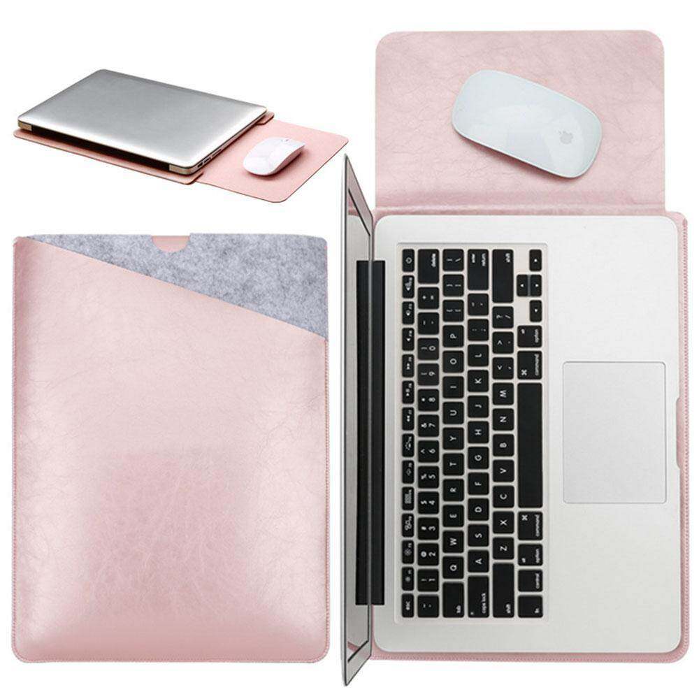 niceEshop 11-12 Inch MacBook Air Pro Sleeve - Protective Soft PU Leather Sleeve Case Cover For 11-12 Inch MacBook Air Pro With Dual Pocket Design And Interior Mouse Pad