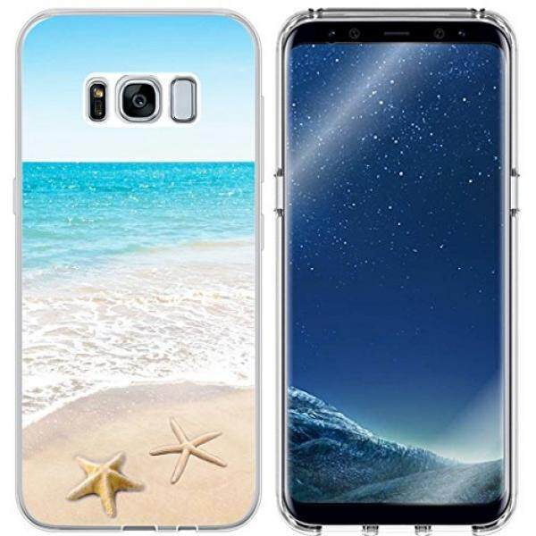 Smartphone Cases Cases MUQR S8 Case Beach & Galaxy S8 Protector & MUQR Replacement Bumper Rubber Gel Silicone Slim Drop Proof Protection Compatible Cover For Samsung Galaxy S8 & Beach Wave Starfish Design - intl