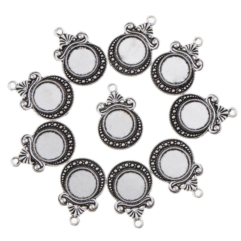 ... Voucher Gi m Gi BolehDeals 10x Antique Silver Round Cabochon Bezel Pendants Trays Cameo Base Setting