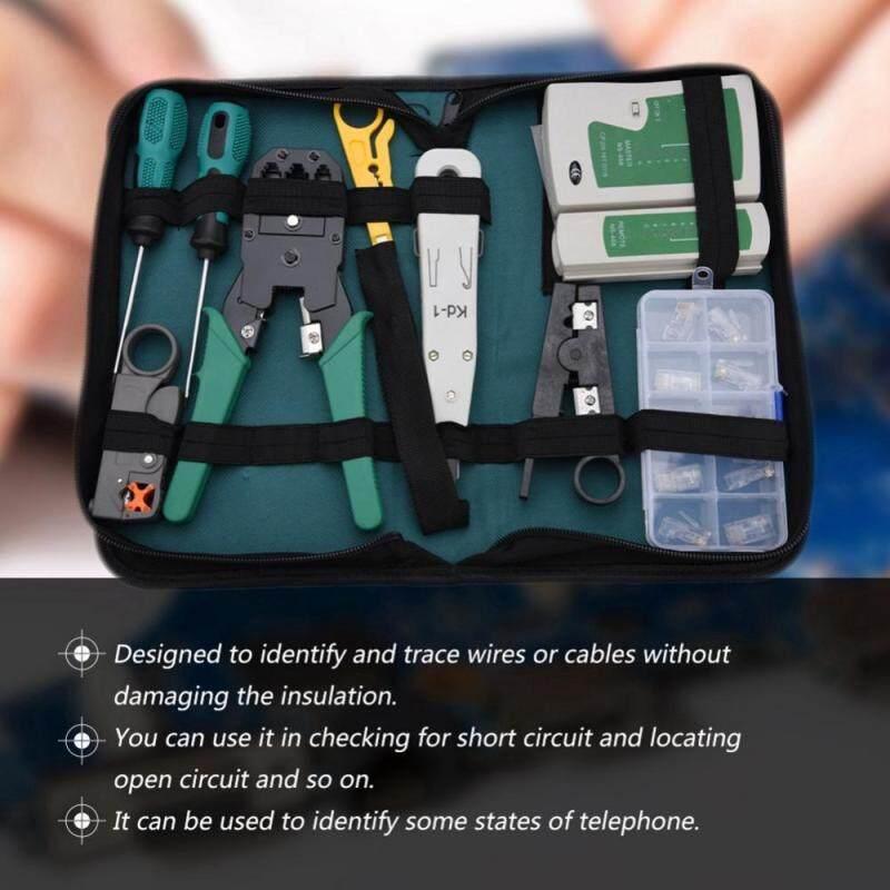 Bảng giá LAN Network Service Tool Kit Cable Tester Kit 11-piece Combination Kit for for RJ11 RJ45 - intl Phong Vũ