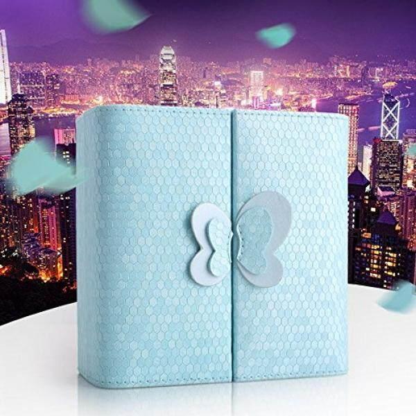 Kotak Perhiasan Hiasan Kupu-kupu Portabel Kotak Perhiasan untuk Bepergian Penyimpanan Pajangan Perhiasan Case Organizer untuk Cincin Anting dan Kalung Manik-manik
