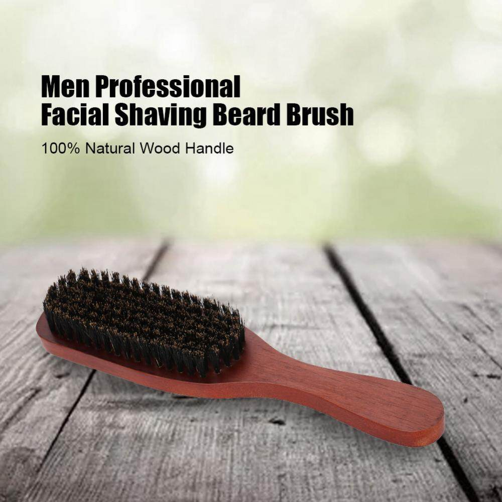 Men Professional Facial Shaving Beard Brush Mustache Cleaning Barber Salon Appliance Tool - Intl By Globedealwin.