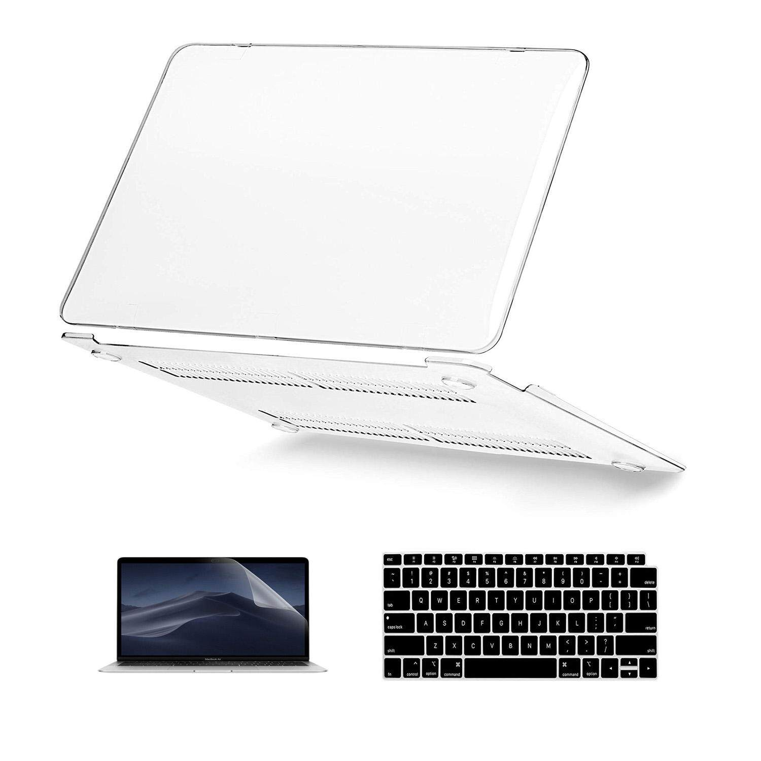 New MacBook Air 13 Inch Case 2018 Release A1932, Welink 3 in 1 Smooth Matte Frosted Hard Shell Cover Screen Protector and Keyboard Cover for Apple MacBook Air 13 Inch with Retina Display fits Touch ID