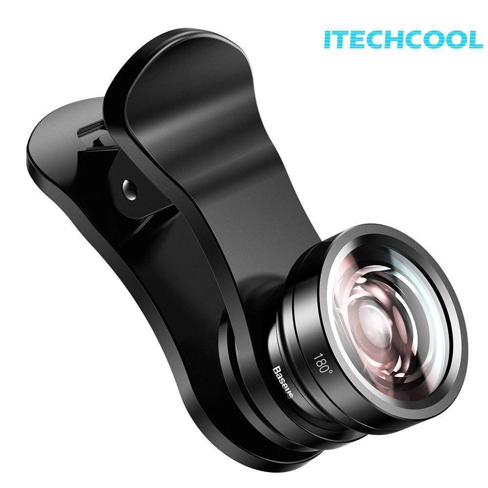Baseus Phone Camera Clip Lens HD Wide Angle+15X Macro Lens+180 Fisheye Lens(Neutral)-