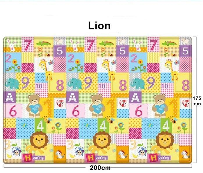 LION Baby Crawling Mat Both Sides Baby Toy Play Mat Carpet Child Game Pad Carpet 200 cm x 175cm (Playmat)
