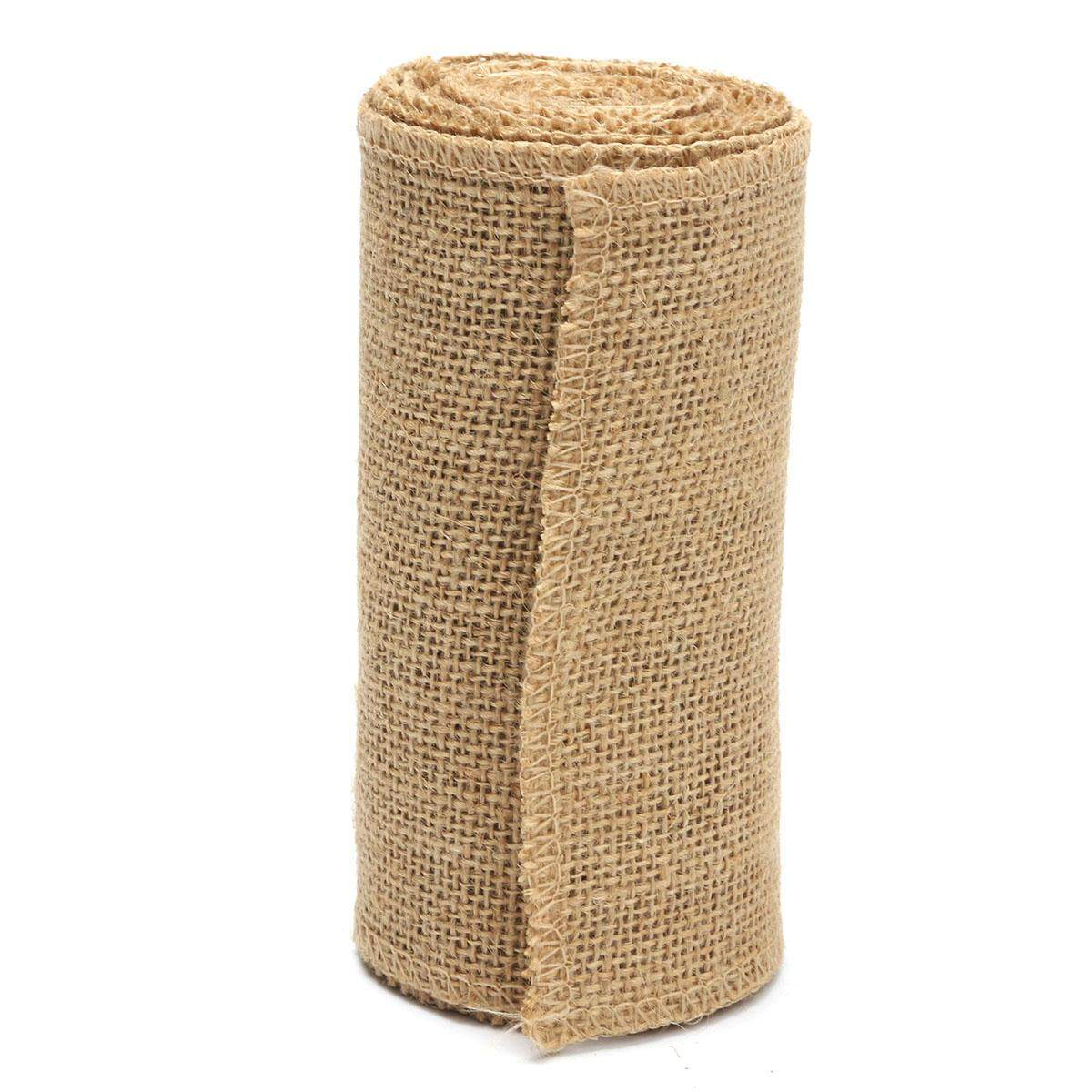 【Free Shipping】1Pcs Hessian Sashes Chair Cover Bows Jute Burlap Vintage Rustic Wedding Decor