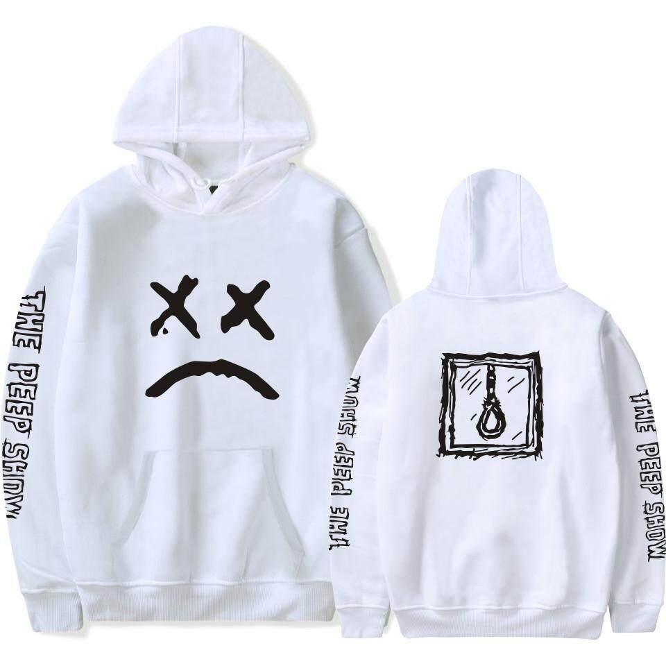 Sudaderas Menangis Cetak Anak Pria & Wanita Sweater Lengan Panjang Bertudung Leher Bulat Hoddie Pasangan Kekasih Sweater By Jiada Shop.