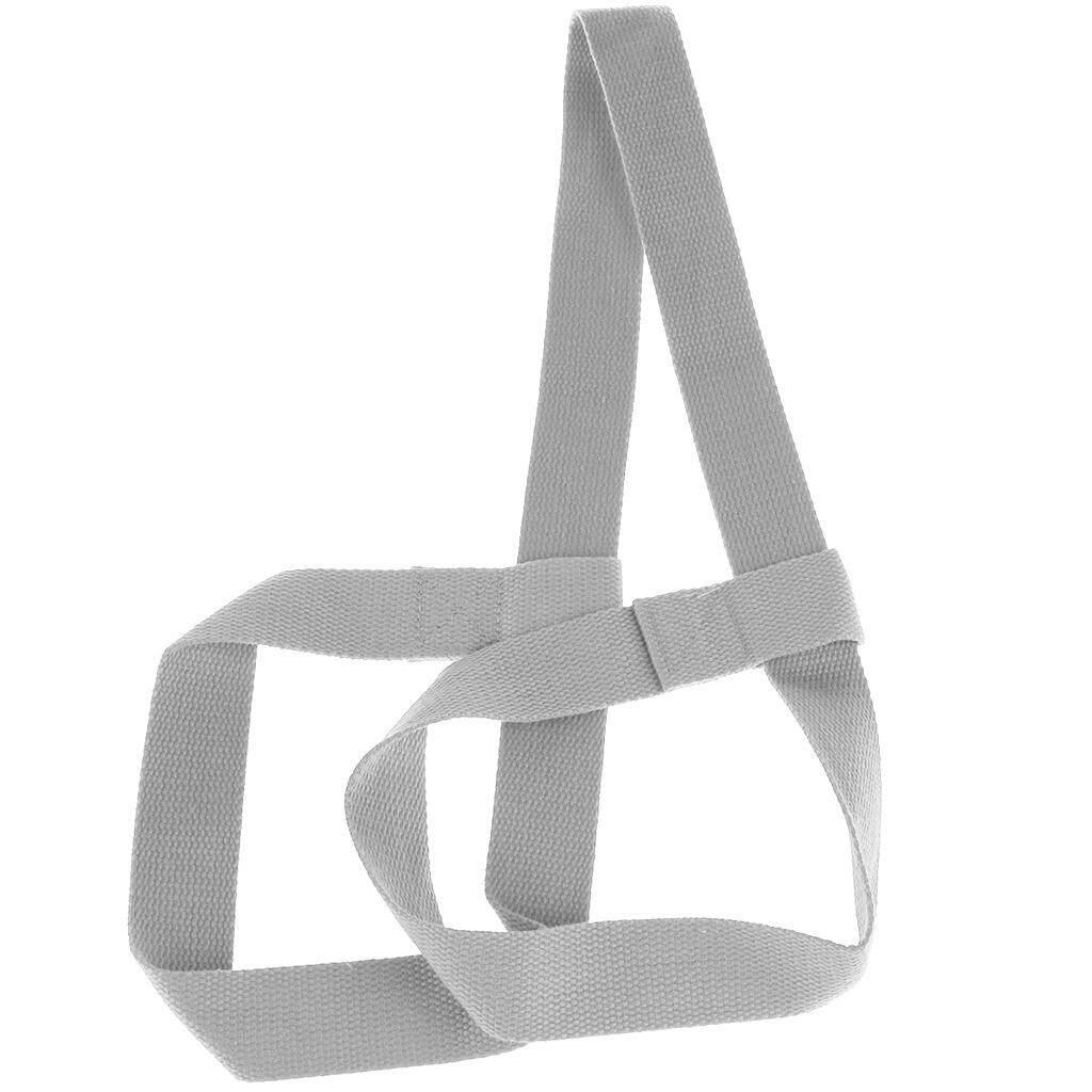 ล่าสุด Miracle Shining Adjustable Yoga Mat Sling Strap Shoulder Carry Belt Stretch Band Light Grey ราคาถูกที่สุด