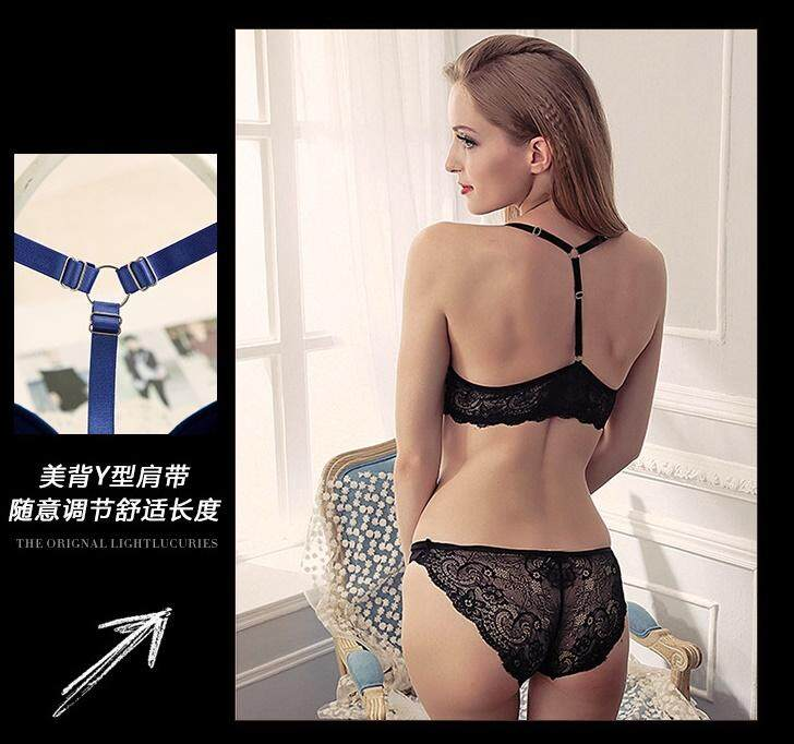 9632e2647868 Bolster Store Women Wireless Seamless Push Up Deep V Lace Front Hook Design  Bra Set ( Bra + Underwear )